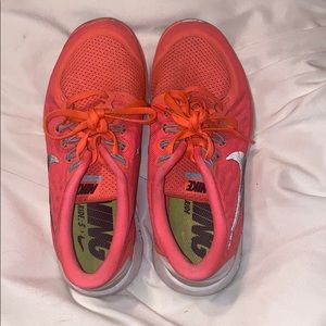 Coral Nike Tennis Shoes